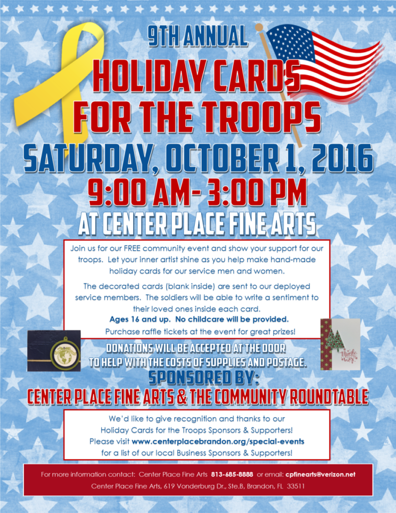 Holiday Cards for Troops 2016 - The Community Roundtable