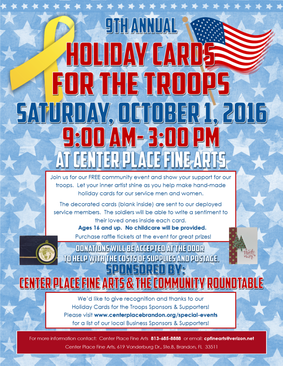 holiday cards for troops 2016